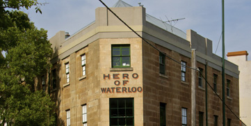 Hero of Waterloo Hotel, Walsh Bay